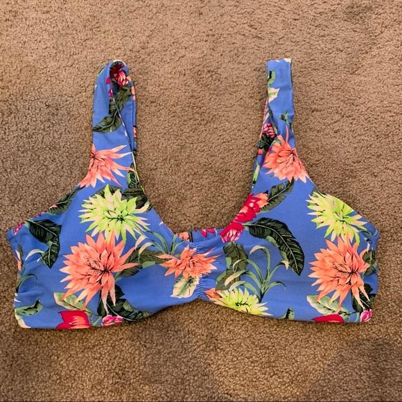 Tori Praver Swimwear Bikini Top Seafoam Floral